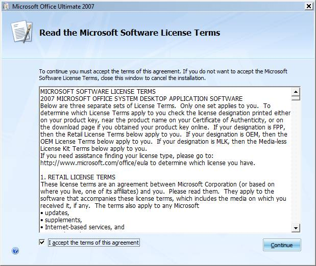 · Read the license terms