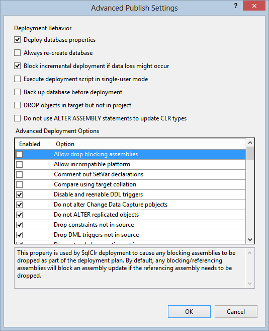 Deploy a SQL Server Database project's * dacpac with
