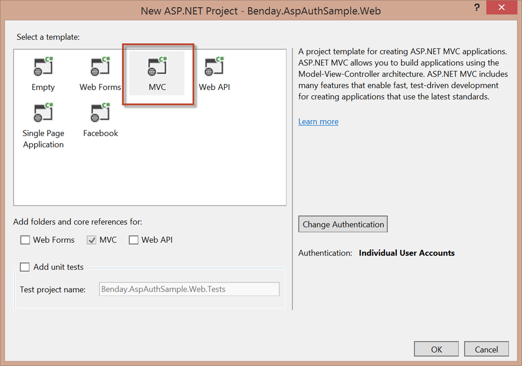 Walkthrough: ASP NET MVC Identity with Microsoft Account