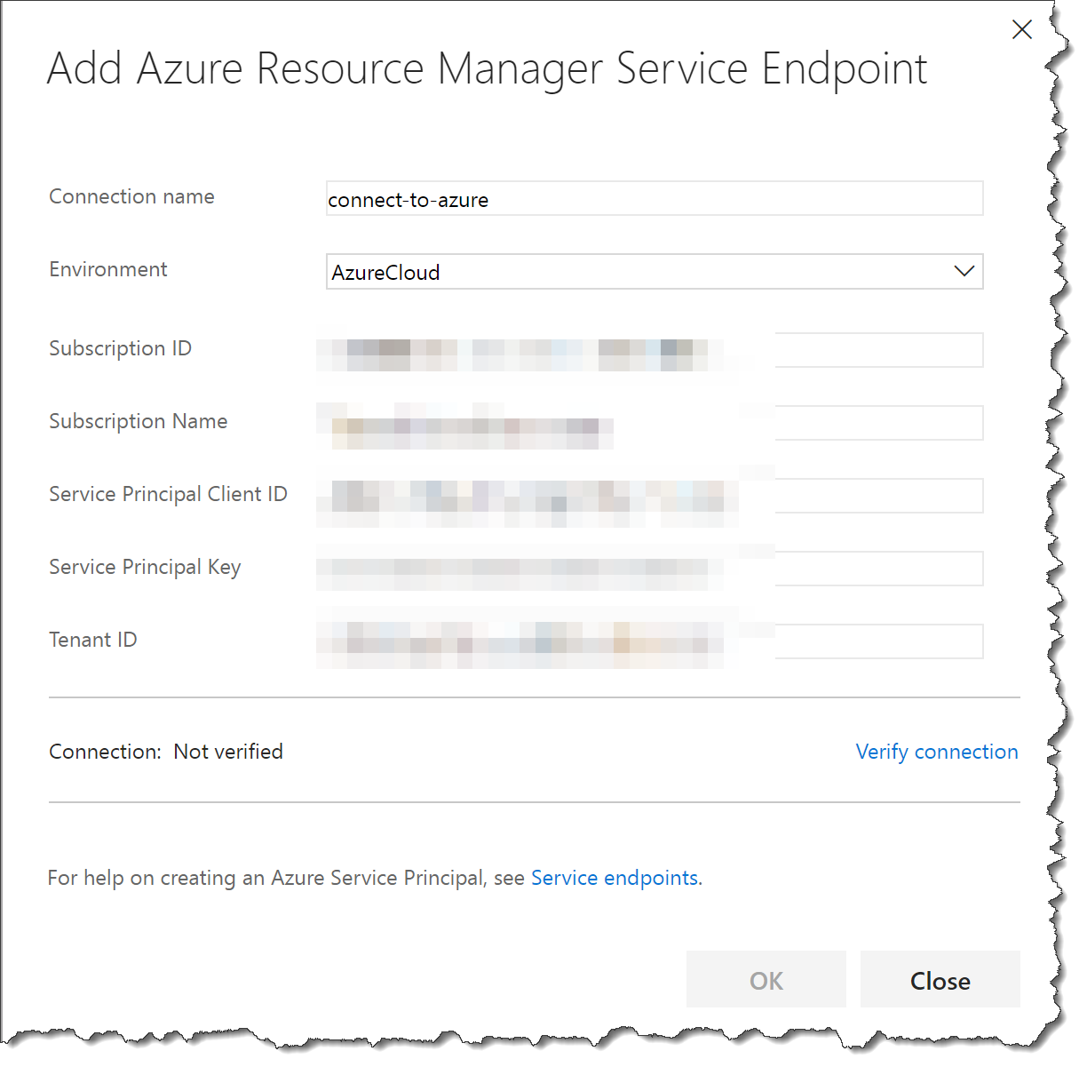 Deploy to Azure from TFS using an Azure Resource Manager