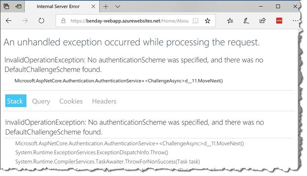 Walkthrough: Part 4, Azure App Service Authentication with a